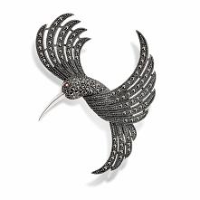 Wyjątkowa Srebrna Broszka - srebro 925, Markasyt