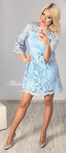 Piękna koronkowa, błękitna sukienka z kolekcji Illuminate <3