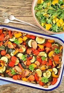 Pieczone warzywa z oscypkiem