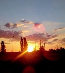Wschód słońca - Łódź 09.06.2018 godz 4.45