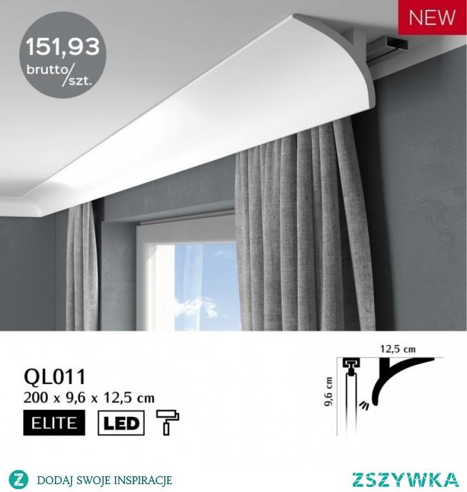 Listwa karniszowa oświetleniowa LED Mardom Decor ONE QL011 to gładka listwa maskująca pozbawiona tłoczeń i ornamentów. Listwa do zabudowy karnisza QL011 jest subtelna i łukowata. Delikatne źródło światła LED nadaje piękno i styl, a także buduje klimat po to żeby czuć się komfortowo. Listwa osłaniająca karnisz QL011 sprawi niesamowity efekt i fantastycznie podkreśli każdy projekt aranżacji wnętrza.