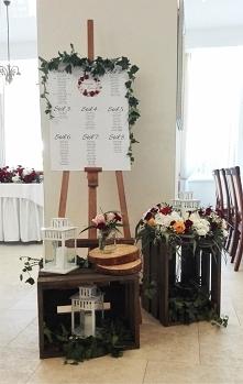Rustykalny układ stołów wes...