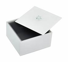 Pudełko na biżuterię szklany Stackers z pokrywą kwadratowe
