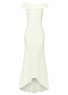 Sukienka ślubna bonprix kremowy