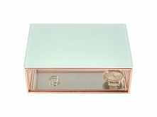 Pudełko na biżuterę szklane Stackers mini miętowe