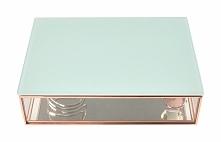 Pudełko na biżuterię szklane Stackers duże miętowe