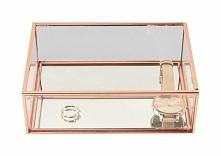 Pudełko na biżuterę szklane Stackers średnie przeźroczyste