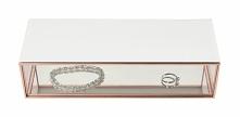 Pudełko na biżuterę szklane Stackers średnie białe