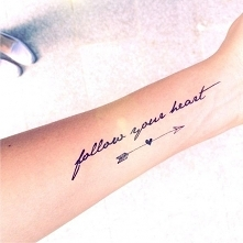 tatuaż Follow your heart