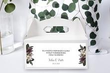 Pudełko na ciasto Tropikalne Kwiaty