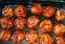 Cebulowe kule z mięsem mielonym