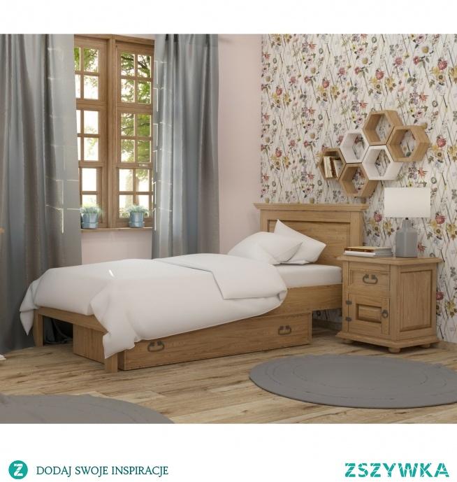 Drewniane Półki Heksagon Do Sypialni Na Półki Z Litego