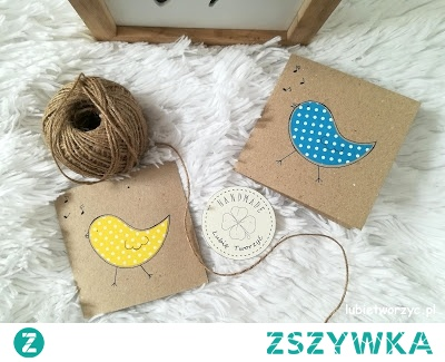 Tutorial prezentujący sposób produkcji kartki z motywem ptaka :)