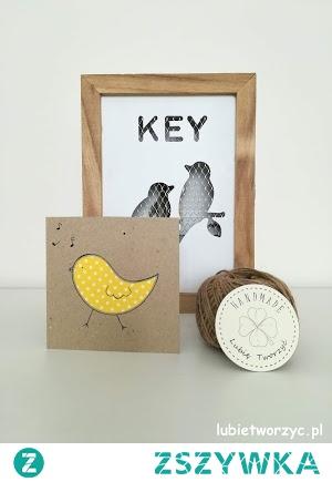 Tutorial prezentujący sposób produkcji kartki okolicznościowej z motywem ptaka :0