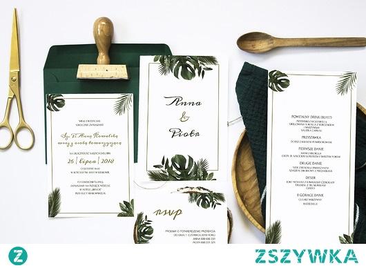Zaproszenie ślubne z RSVP Tropical Mood
