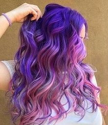 purple pink ombre