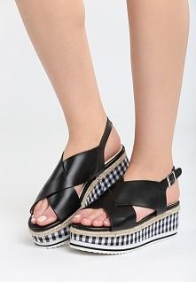 Czarne Sandały Squared
