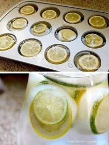 kostki lodu z cytryną i lim...