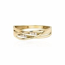 Wyjątkowy Pierścionek Złoty - złoto żółte 333, Cyrkonia