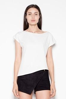 Elegancka bluzka z asymetry...