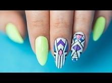 AZTECKIE wzory na paznokcia...