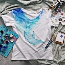 Koszulka ręcznie malowana s...
