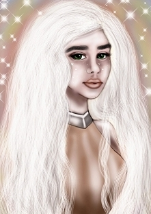 Digital portret, ilustracja. Daenerys Targaryen :)