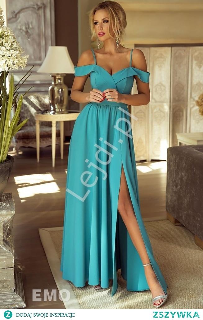85ae8f0079 Suknia wieczorowa Elizabeth z odkrytymi ramionami w niezwykłym .. na ...