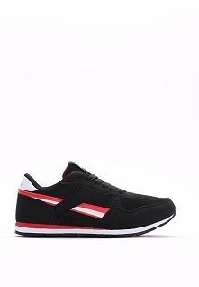 Czarno-Czerwone Buty Sportowe Diarell