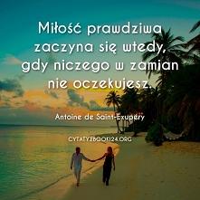 Antoine de Saint-Exupery cytat o prawdziwej miłości