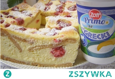 Malinowy sernik z jogurtów greckich