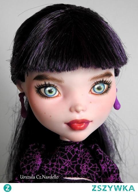 Monster High Elissabat OOAK ok 44 cm ,repainted doll