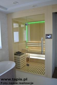 Sauna w łazience. Producent...
