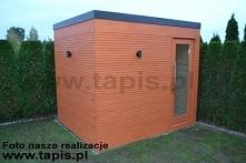 Domek saunowy DRACO z przed...