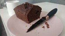 Ciasto bez cukru  Kakao, banany, daktyle i troszkę czekolady deserowej w kawa...