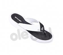 Spokey Chillout - klapki basenowe damskie r.38 (czarno-biały)