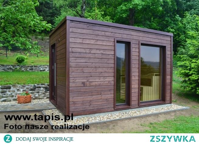 Domek saunowy CARINA z pomieszczeniem relaksacyjnym i sauną. Producent: TAPIS.PL