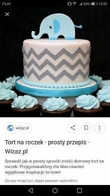 Tort na roczek synka