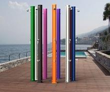 Kolorowe prysznice solarne do basenu i ogrodu. Oferta: TAPIS.PL