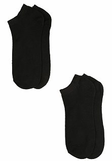 12-pack Czarnych Skarpetek Outfitting