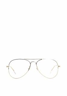 Biało-Złote Okulary Zerówki Jade