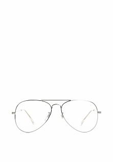 Srebrno-Białe Okulary Zerówki Jade