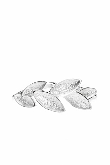 Srebrna bransoletka z liśćmi QUIOSQUE