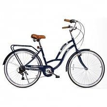 Rower Miejski Damski Florence 26 Ciemnoniebieski 7 Biegów