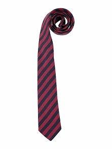 Krawat w kolorze bordowym - 150 x 7,5 cm