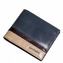 Sammons Krótki poziomy męski portfel Niebieski  (350178-06)