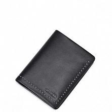 Sammons Stylowy krótki męski portfel Czarny  (350214-01)