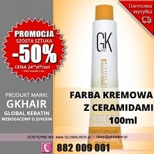 Global Keratin GK Hair farba kremowa z ceramidami 100ml cream color with ceramides - sklep warszawa PROMOCJA  cena 27zł (wysyłka UPS od 9zł darmowa wysyłka od 99zł) Promocja 6 s...