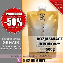 Global Keratin GK Hair rozjaśniacz kremowy Juvexin 500g lightening cream - sk...
