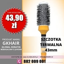 Global Keratin GK Hair szczotka termalna okrągła 43mm thermal round brush cen...